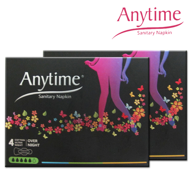 4 Boxes 338cm New Arrival Women Feminine Hygiene Anion Cotton Sanitary Napkin Medicated Menstrual Lady Sanitary Pad
