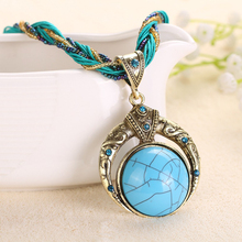 47cm Fashion Jewelry 2017 Women Selling Necklace Ethnic Colorful Geometric Metallic Leather Necklace Handmade Supplies XL-09