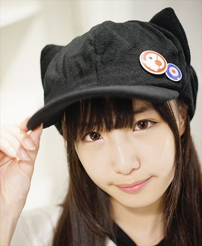 Japanese Anime Neon Genesis Evangelion EVA Asuka Langley Soryu Cosplay Cat Ears Hat Polar Fleece Plush Cap With Badges