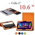 НОВЫЙ Cube i7 10.6 дюймов Красочные Цветочный Печати Стенд Tablet Чехол Для Cube i7 10.6 ''Tablet Cover