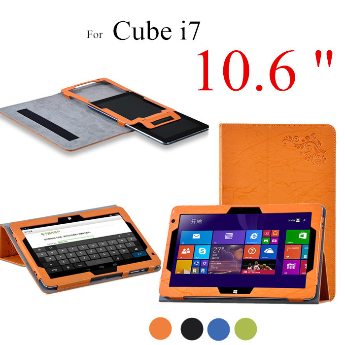 NEW Cube i7 10.6 inch Colorful Flower Print Stand Tablet Case For Cube i7 10.6 Tablet Cover
