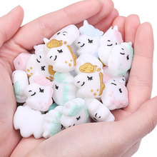 Toy-Accessories Sensory Jewelry Silicone Unicorn Pacifier Beads Diy Dummy Animal Chewing