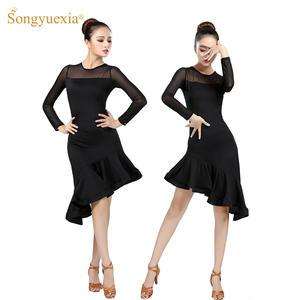 fbc58ccff SONGYUEXIA Practice skirt black Woman Latin dance dresses