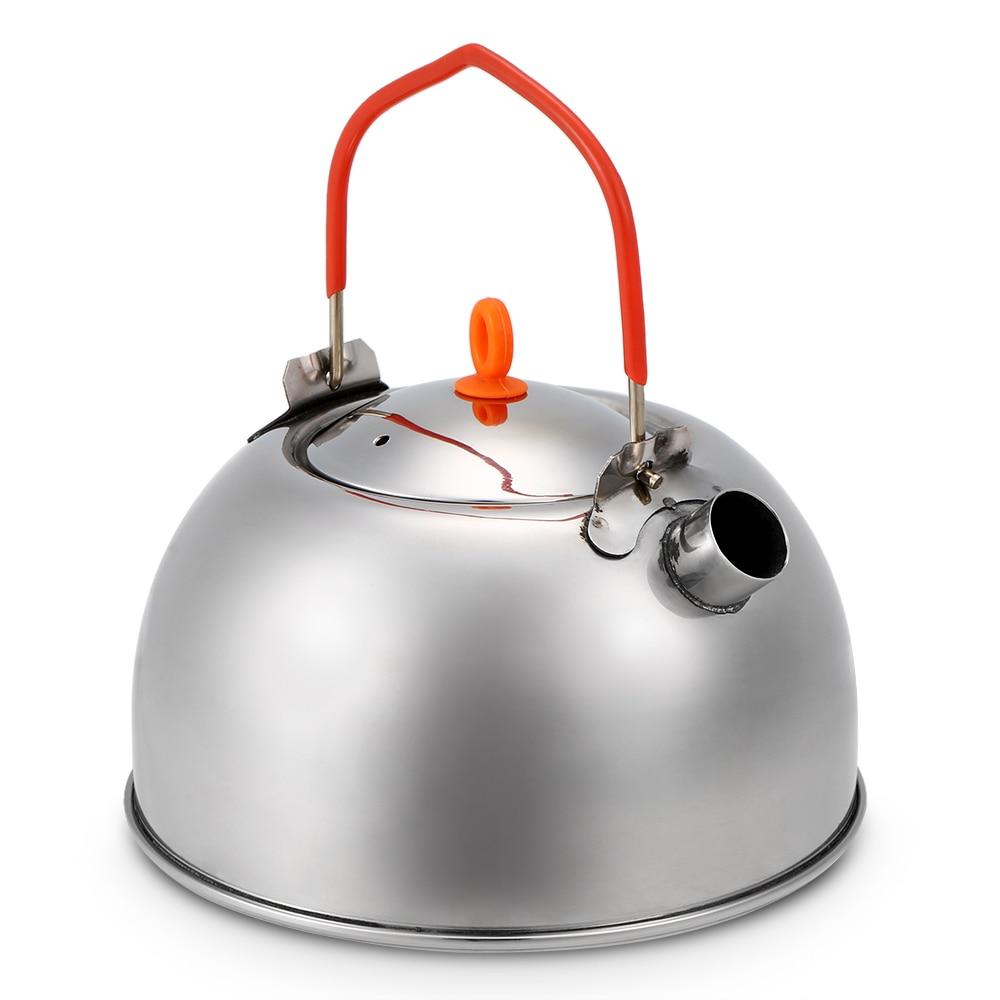 Image 4 - 0.6л чайник из нержавеющей стали, портативный походный чайник для воды, чайник, кофейник, походная посуда-in Столовые приборы для пикника from Спорт и развлечения on AliExpress - 11.11_Double 11_Singles' Day