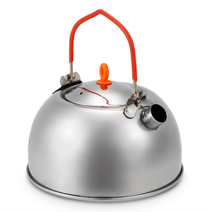 Image 4 - 0.6L Stainless Steel Tea Kettle Portable Outdoor Camping Hiking Water Kettle Teapot Coffee Pot Outdoor Tableware