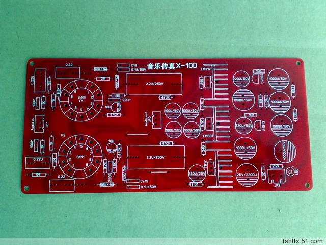 Improved version (reference to Musical Fidelity X-10D circuit) electronic tube buffer (with voltage stabilizer) PCB board