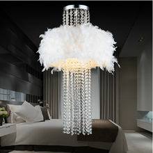 Бесплатная Доставка! droplight потолочный светильник Поглощенный свет купола кристалл перо люстра (размер: 55 см W * 85 см H) с самым лучшим K9 кристалл