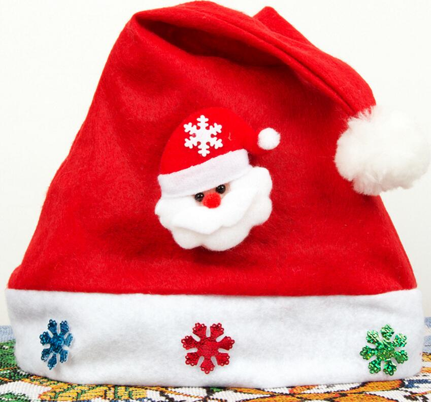 Christmas holiday party Decoration hats Xmas caps Santa Claus hat adults children kids baby new Christmas Cosplay Hats gift ST01