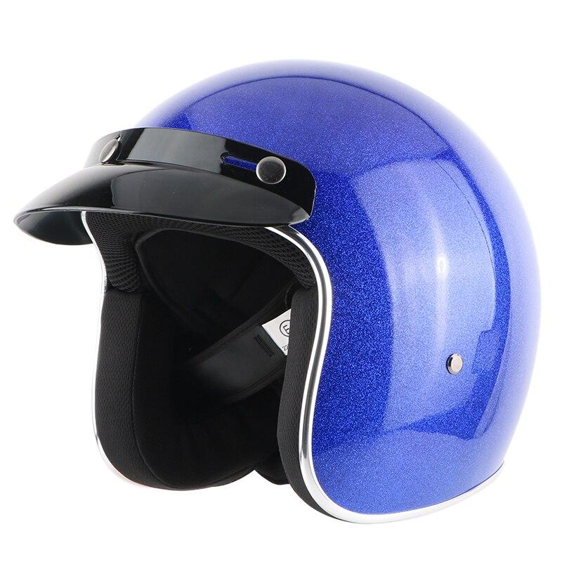 New adult open face jet moto Vintage motorcycle helmets motorbike casco retro helmet scooter 3 4