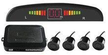 Asistencia Sensor de Aparcamiento del coche LED Radar de Reserva Reverso Del Monitor de Sistema de Retroiluminación de la Pantalla + 4 Sensores, aparcamiento de coches