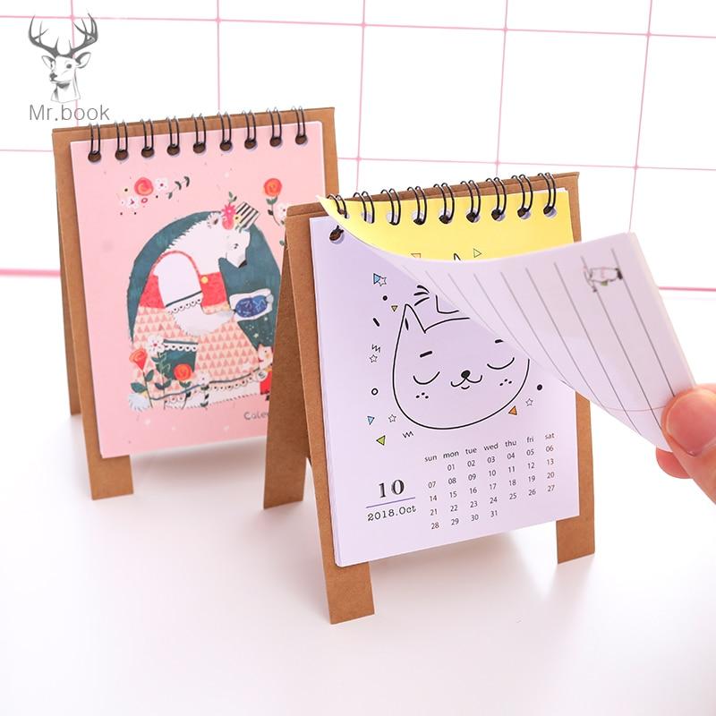 Kalender Kicute 2018 Jahr Schwarz Weiß Stil Luminous Kalender Schreibtisch Stehenden Papier Multifunktions Organizer Schedule Planer Memo Kalender Kalender, Planer Und Karten