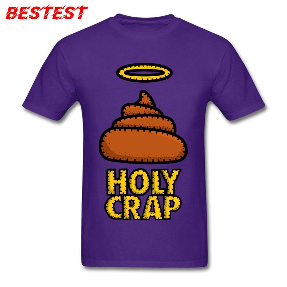 Printed Holy Crap Round Collar Tshirts Summer Tops Shirt Short Sleeve for Men 2018 Fashion 100% Cotton cosie T Shirt Holy Crap purple