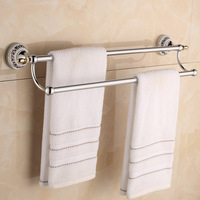 European Style Plating Golden Stainless Steel Bar Gold/ Silver Double Rod Bathroom Towel rack, Towel rail and Towel holder