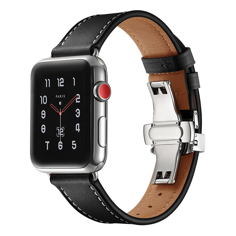 Leather strap for Apple watch band 4 44mm 40mm correa aplle watch 42mm 38mm Bracelet Wrist Watchband Iwatch 4 3 2 1 Accessories все цены