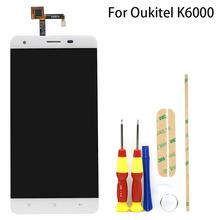 Do 5 5 1280 #215 720 Oukitel K6000 wyświetlacz LCD w telefon komórkowy LCD + Oukitel K6000 Pro dotykowy LCD zestaw Digitizer z ekranem monitorów lcd tanie tanio AiBaoQi Pojemnościowy ekran Nowy 1280x720 3 K6000 K6000 Pro