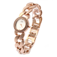 hot deal buy relogio feminino g&d women quartz wristwatches rose gold stainless steel luxury rhinestone bracelet women's dress watches clock