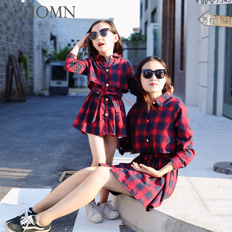 Family Matching Mother And Daughter Dresses Family Look Outfits Mommy and Me Clothes Baby Girls Kids Clothing Mom Dress GH410 red mommy and me stripe matching midi dress