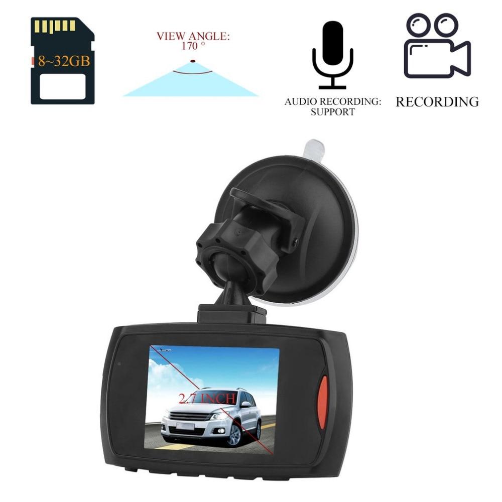 HD 720P Car DVR Camera Dash Cam Video 2.7inch LCD LCD Display Night Vision Vehicle Camera Recorder Black Box Car Styling цена