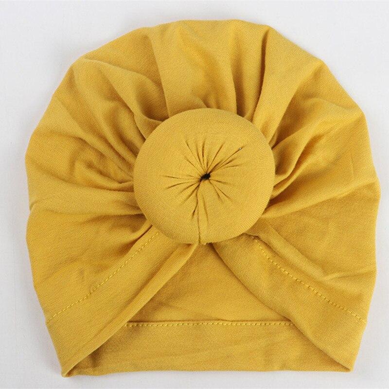 2018 Fashion Donut Baby Hat Newborn Elastic Cotton Turban Baby Beanie Cap Multicolor Infant Turban Hats 1 PC