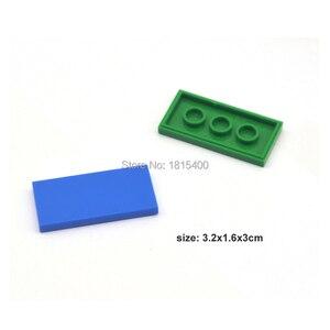 Image 5 - Erleuchten Block Gebäude Ziegel Spielzeug Super Heros Bricks Kompatibel Mit LEGOES Fliesen 2x4 Flache Kunststoff DIY Spielzeug Für kinder 50 stücke