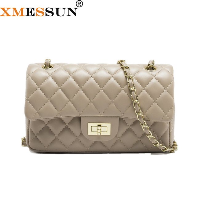 Chains Double Flap Bag Women Quilted Shoulder Bag Luxury Brand Classic Lady  Crossbody Handbag 2018 Quality 305b9a06f2