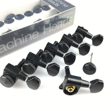 New Black Guitar Locking Tuners Electric Guitar Machine Heads Tuners JN-07SP Lock Tuning Pegs ( With packaging ) left handed locking tuning keys guitar tuners pegs machine heads black