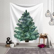 Merry Christmas Tree Tapestry Wall Hanging Art Polyester Tapestry Beach Towel Carpet Christmas Decor Shawl Blanket Yoga Mat