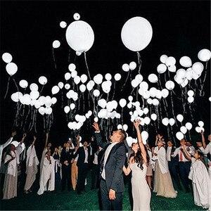 Image 5 - 100 ADET LED düğün parti balonlar beyaz glow aniversario