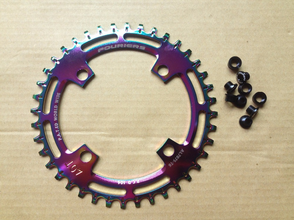 FOURIERS CNC made narrow-wide bicycle chainring for 1x system 38T 40T For PCD/BCD 104mm CR-DX003-AHFOURIERS CNC made narrow-wide bicycle chainring for 1x system 38T 40T For PCD/BCD 104mm CR-DX003-AH