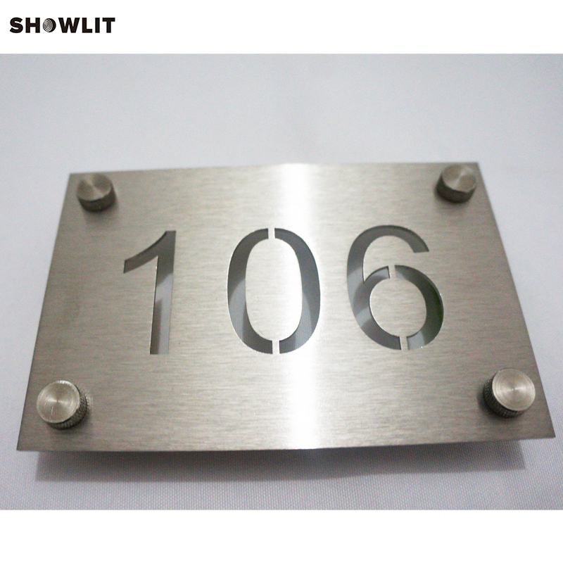 все цены на Steel Silver Stainless Steel Door Number Sign