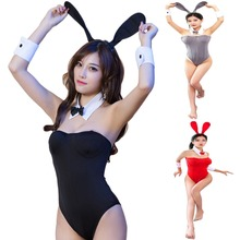98b823afb Womens Cosplay Bunny Costume Rabbit Jumpsuit Uniform Erotic Lingerie  Clubwear(China)
