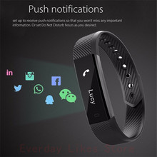 Original ID115 Smart Bracelet Fitness Tracker Alarm Clock Step Counter Bluetooth Sleep Monitor