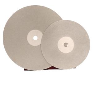 6 polegadas 150mm 16mm/20mm caramanchão diamante revestido plana volta disco roda jóias moagem polimento disco ferramenta 80-3000 grit