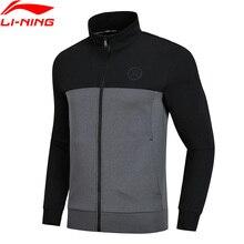 Li-Ning мужская толстовка с капюшоном серии Wade, обычная посадка, 82% хлопок, 18% полиэстер, Удобная подкладка, спортивные топы, свитер AWDN669 MWW1412