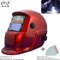 Чистый красный цвет сварочный шлем авто темный фильтр объектив тушь для ресниц батарея Кнопка Easycap Tig Mig сварочный шлем полная защита лица