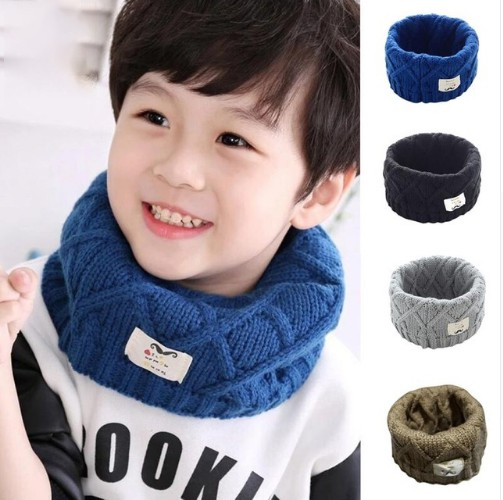 Cute Cotton Winter Baby Scarf Children Girls Boys