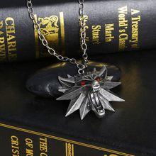 Collar del juego The Witcher 3, Wild Hunt, medallón colgante y collar de cadena, unisex