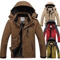 L ~ 6XL Утолщение Зимняя Куртка Мужчины Ветрозащитный Теплая Куртка Вниз Пальто Руно Бархат Водонепроницаемый Марка Куртка Ветровка Мужчины CF022