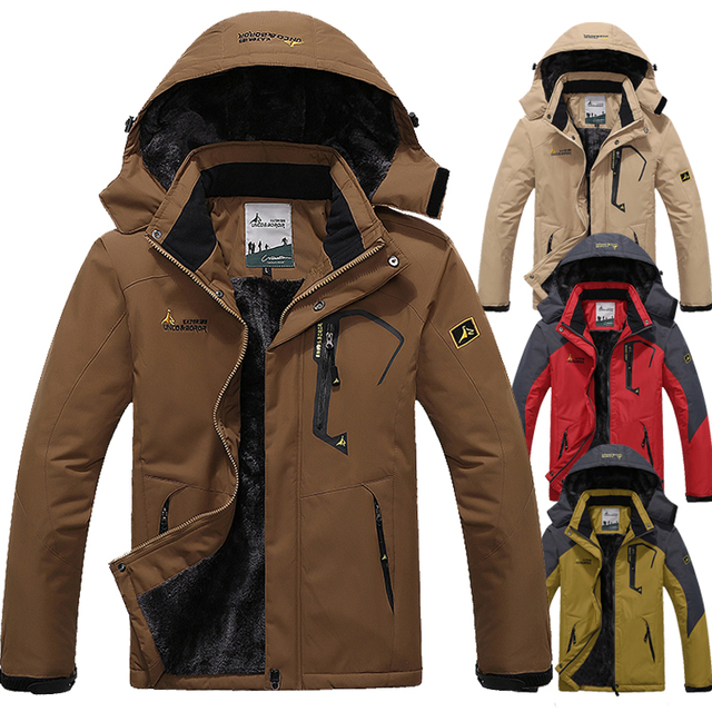 L~6XL Thickening Winter Jacket Men Windproof Warm Parka Down Coat Fleece Velvet Waterproof Brand Jacket Windbreaker Men CF022