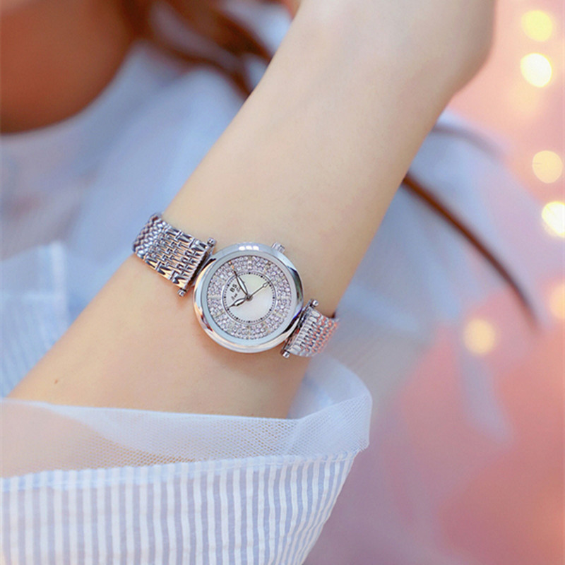 Super Simple Casual Woman Watches Small Dial ladies Watch Women 2018 Rhinestone Bracelet Quartz watch Waterproof dames horloge alexis brand silver white shell dial violet crystal ceramic water resistant bracelet watch women ladies watches horloge dames
