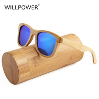 WILLPOWER Fashion Bamboo Eyeglasses Wood Mirror Polarized UV400 Handmade Sunglasses High end private customization