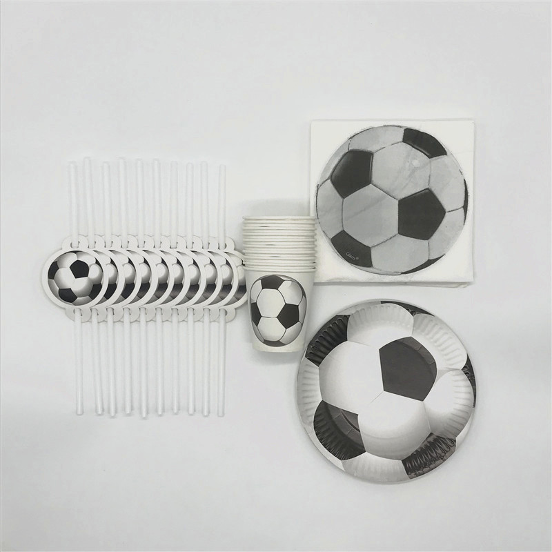 80Pcs/lot White Football Theme Design Children Birthday Paper Cup+Plate+Straw+Napkin Festival Cartoon Tissue Decoration Supply80Pcs/lot White Football Theme Design Children Birthday Paper Cup+Plate+Straw+Napkin Festival Cartoon Tissue Decoration Supply