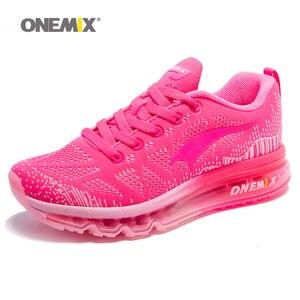 Image 5 - ONEMIX 여성 운동화 통기성 제직 운동화 에어 쿠션 2020 운동화 여성 테니스 신발 라이트 zapatos de mujer