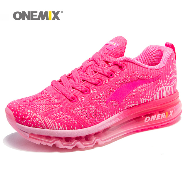bd3e307166d83c ONEMIX Air Cushion Running Shoes For Women 90 Free Weaving Sneaker  Breathable Mesh Knit Sport Athletic