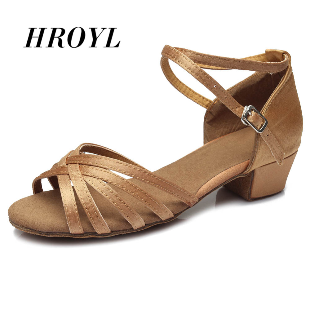 High quality new arrival wholesale girls Children/child/kids ballroom tango salsa latin dance shoes low heel shoes 20 colors