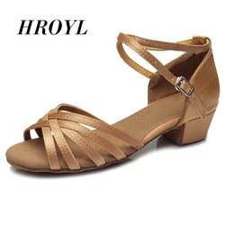 Высокое качество новое поступление оптовая продажа девочки дети/дети бальные танго сальса латинские танцевальные туфли на низком каблуке