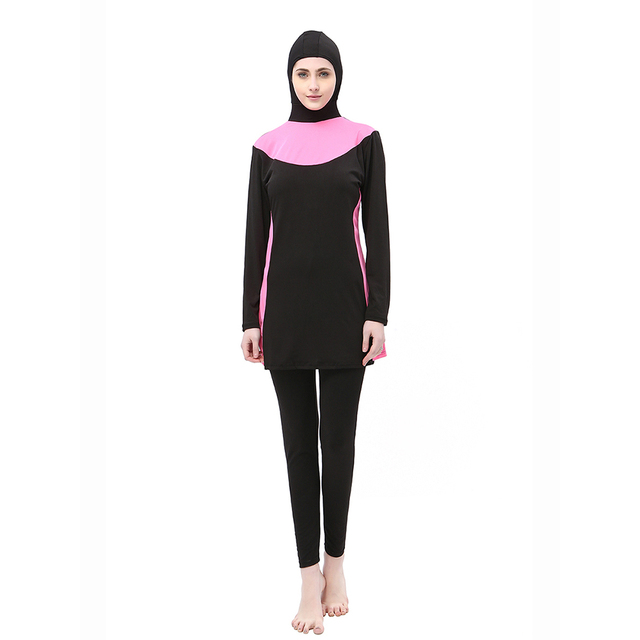 6e923445c6 Large Size Muslim Swimwear Women Ladies for Burkini Islamic Swim Wear  Swimsuit Islam Modest Swimwear Women s