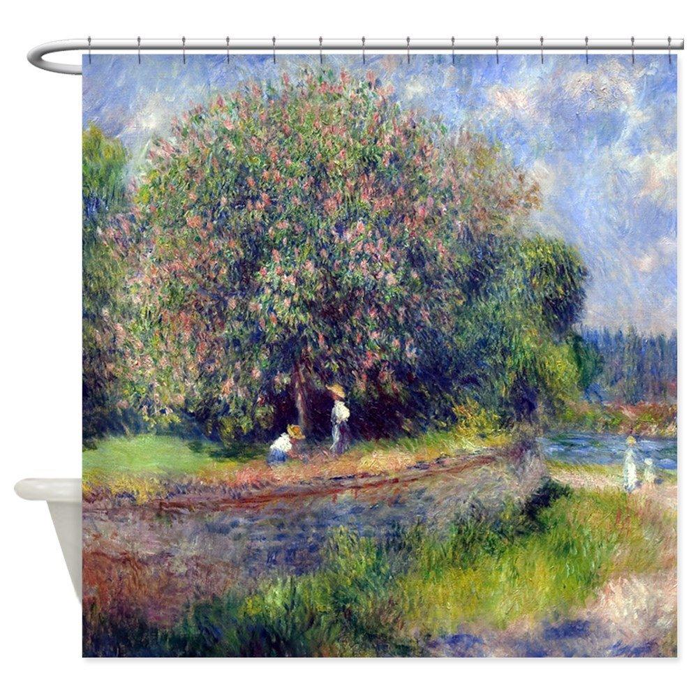Pierre-Auguste Renoir Chestnut Tree - Decorative Fabric Shower Curtain (69x70)