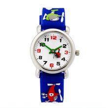 Водонепроницаемый Ребенок Часы Дети Силиконовые Наручные Часы самолет Марка Кварцевые Наручные Часы Мода Повседневная Relogio часы 10 шт./лот