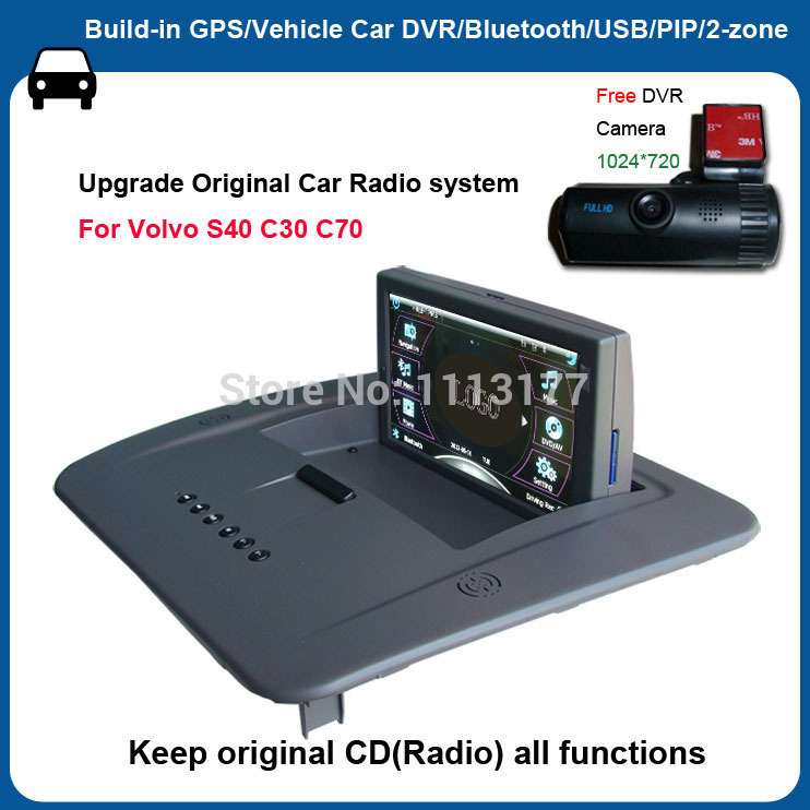"""6 5 Car In Dash Touch Screen Monitor For Volvo Xc90: Car Video Monitor 6.2"""" Touch Screen For Volvo C30 C70 S40"""